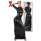 ラテックス ブラック ドレス